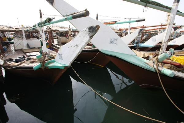 Traditional dhows moored in Al Khor | Al Khor pescateurs | Qatar