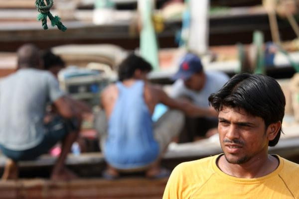 Picture of Fisherman getting off his boat at Al Khor - Qatar - Asia