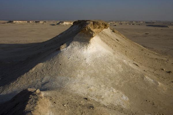 View of the erosion-formed landscape of Bir Zekreet | Bir Zekreet landscape | Qatar