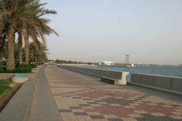 Corniche of Doha in the early morning sunlight | Doha Corniche | Qatar