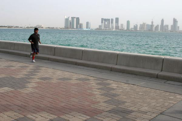 Runner on the Corniche of Doha | Doha Corniche | Qatar