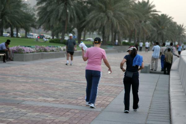 People on the Corniche | Doha Corniche | Qatar