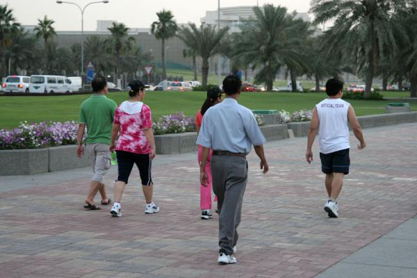Working out on the Corniche | Doha Corniche | Qatar