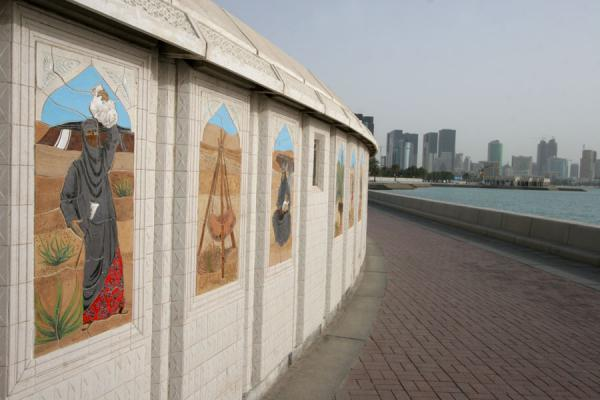 Picture of Monument to Qatar, modern skyline on the Corniche