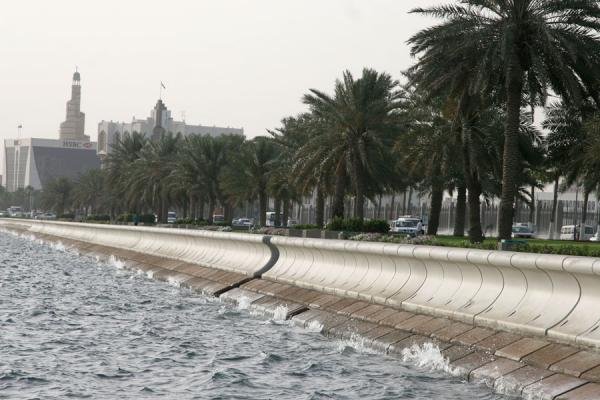 Waves of Doha Bay crushing on the Corniche | Doha Corniche | Qatar