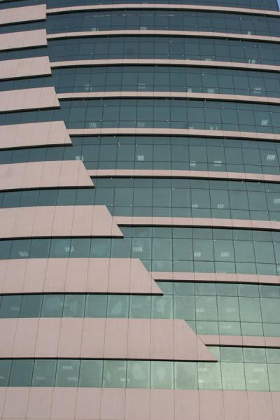 Picture of Concrete and glass in modern office building in Doha