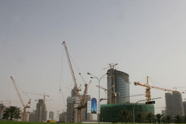 Cranes and high rise buildings in Doha | Doha modern architecture | Qatar