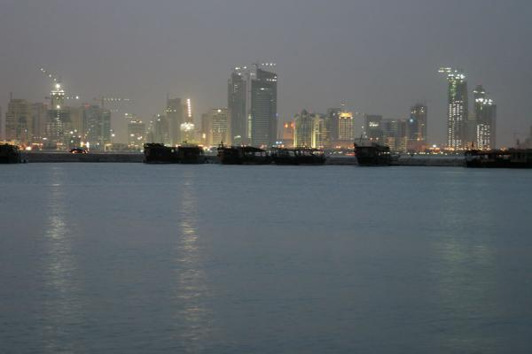 New skyline of Doha in the evening | Doha modern architecture | Qatar