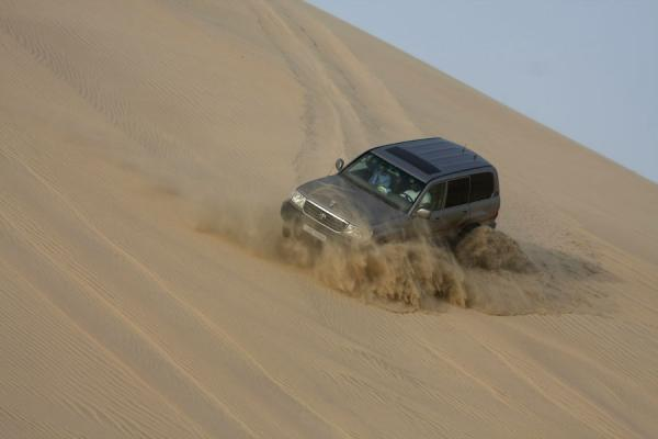 Sand dune bashing: sliding down the sand in a 4WD | Khor al Adaid Desert | Qatar