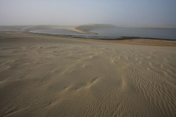 View over one of the inland lakes at Khor al Adaid | Khor al Adaid Desert | Qatar