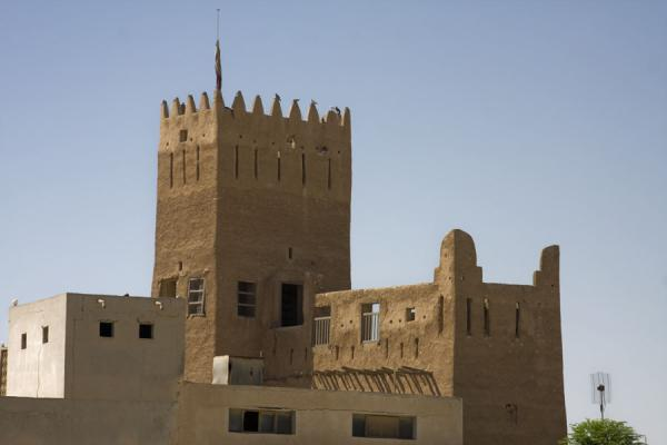 Picture of Umm Salal Mohammed fort (Qatar): Crenelated tower in Umm Salal Mohammed