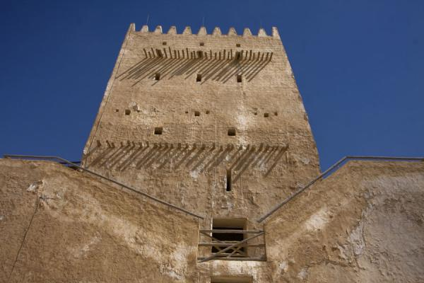 Frontal view of one of the East tower, or Alborj Alshargi | Umm Salal Mohammed fort | Qatar