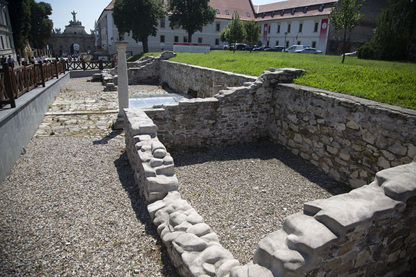 Ruins of Roman buildings on the main street, or Via Principalis, of the citadel | Alba Caroline Citadel | Romania