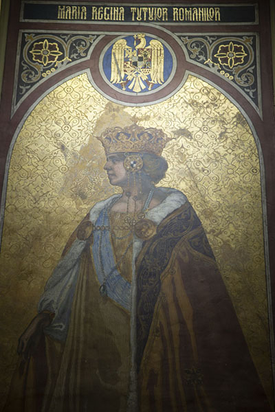 Foto di Queen Marie painted in the Reunification cathedralAlba Iulia - Rumania