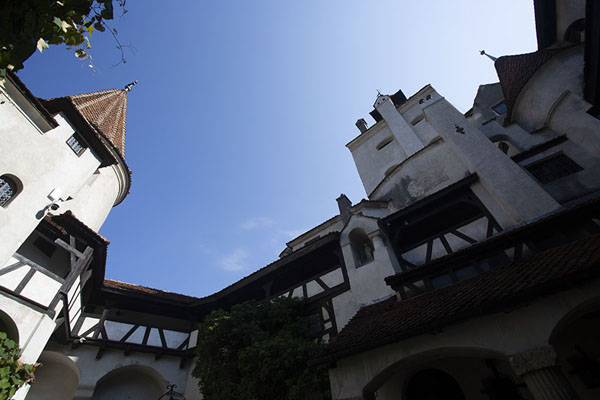 Looking up from the courtyard of Bran castle | Bran castle | Romania