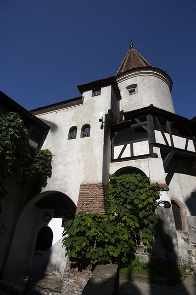 Looking up Bran castle from below | Bran castle | Romania
