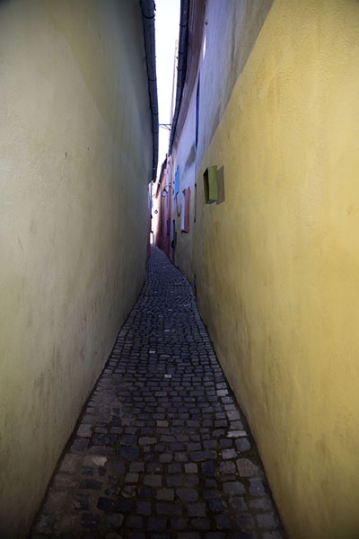 Picture of Strada Sforii, or Rope Street, the narrowest street of BrașovBrașov - Romania