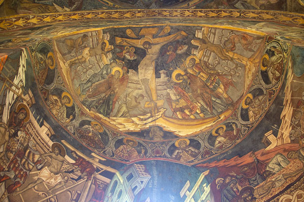 Interior of the monastery of Humor | Bucovina monasteries | 罗马尼亚
