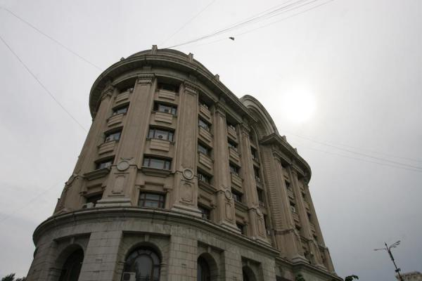 Picture of Union Avenue (Romania): Building at beginning of Unirii Avenue