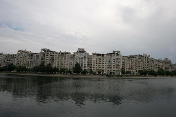 Picture of Union Avenue (Romania): Splaul Independei canal: apartment blocks near the Unirii Avenue
