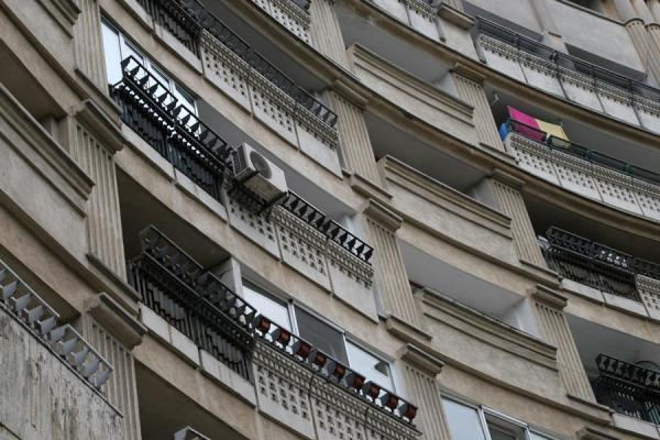 Picture of Union Avenue (Romania): Balconies of apartment block on Unirii Avenue