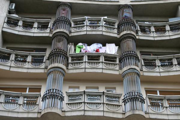 Balconies in apartment block on Unirii avenue | Union Avenue | Romania
