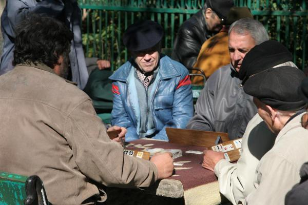 Picture of Cismigiu Gardens (Romania): Romanians playing games in Cismigiu Gardens