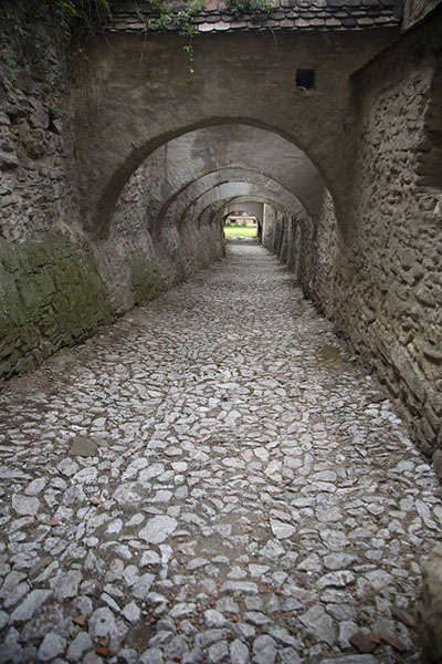 Cobble-stone street in the fortified church of Biertan | Fortified Saxon churches | 罗马尼亚