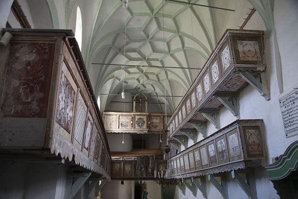 The interior of the fortified church of Buneşti | Fortified Saxon churches | 罗马尼亚