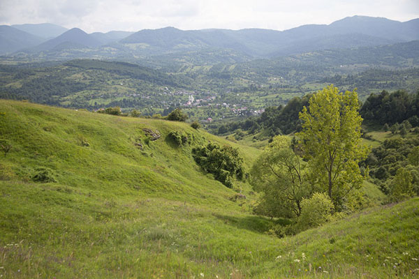 Panoramic view of the landscape of Iza Valley | Valle Iza | Rumania
