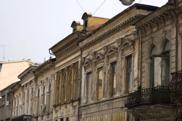 Old houses in Franceză street in the historic quarter | Lipscani historic quarter | Romania