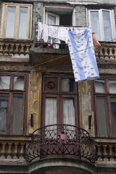 Picture of Lipscani historic quarter (Romania): Balcony of old house in the historic quarter