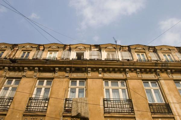 One of the stately buildings in the historic quarter | Lipscani historic quarter | Romania