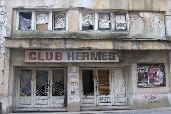 Picture of Lipscani historic quarter (Romania): Old Club in the historic Lipscani quarter