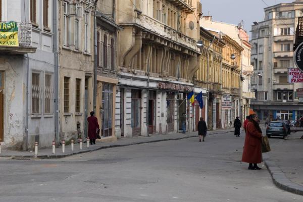 People in Franceză street in the historic quarter | Lipscani historic quarter | Romania