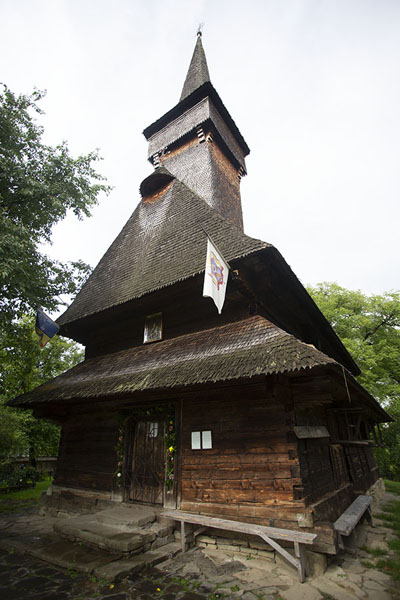 Foto van Wooden church of DeseștiMaramureș - Roemenië