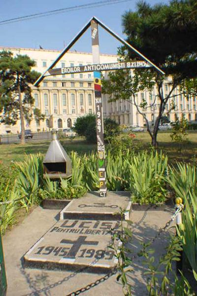 Monument in front of the building where Ceaucescu appeared in public for the last time | Monuments of Romanian revolution | Romania