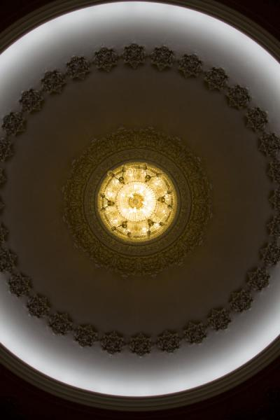 Chandelier seen from below | Palais du Parlement | Roumanie