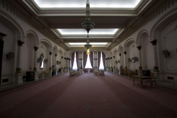 Picture of One of the countless halls in the PalaceBucharest - Romania