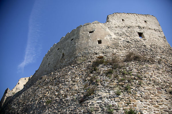 Wall of the citadel built straight on the rocks | Rupea citadel | Romania