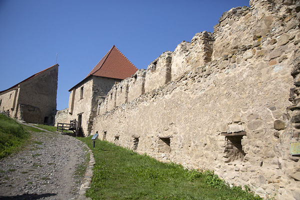 Northern wall seen from the inside | Rupea citadel | Romania