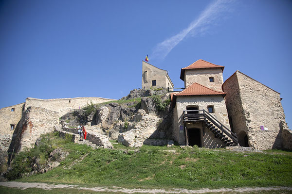 The southern part of the citadel with the upper, oldest part | Rupea citadel | Romania