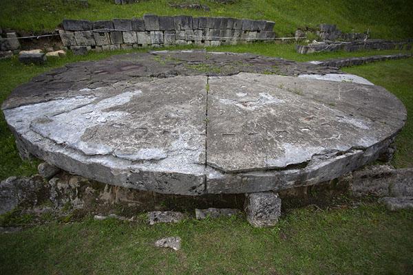 The solar disk, or alter, in the sacred zone | Sarmizegetusa Regia | Romania