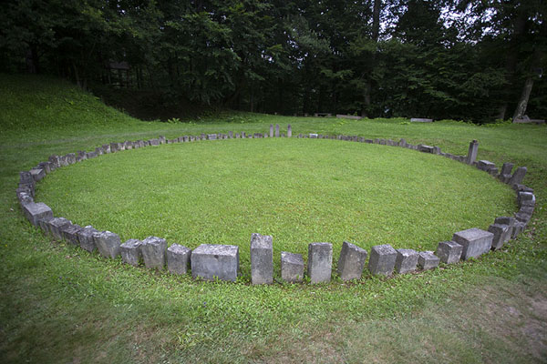 Circular andesite sanctuary in the sacred zone - 罗马尼亚