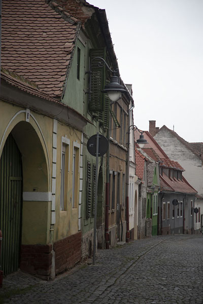 One of the colourful streets of Sibiu - 罗马尼亚 - 欧洲