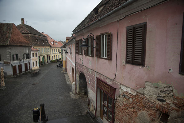 View of the lower town from the Bridge of Lies | Sibiu | Roemenië