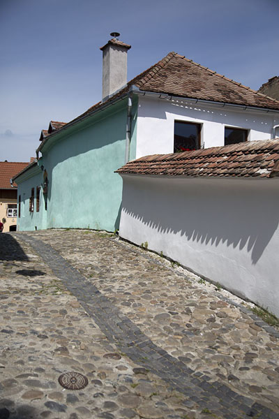 Picture of Cobble-stone street in SighișoaraSighișoara - Romania