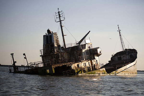 The wreck of the Turgut S in Musura Bay | Delta del Danubio de Sulina | Rumania