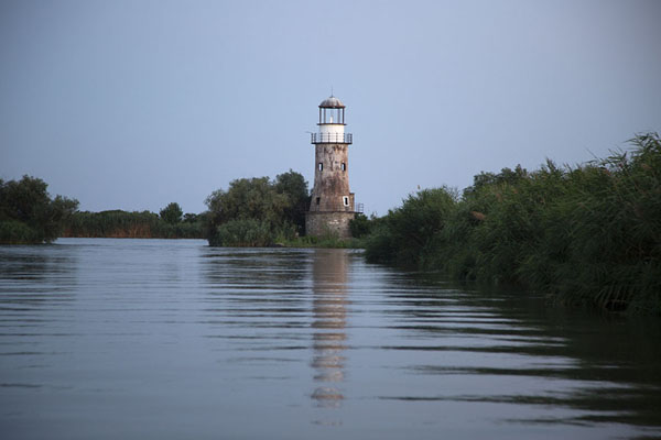 Old lighthouse on a channel near Sulina | Sulina Danube delta | Romania
