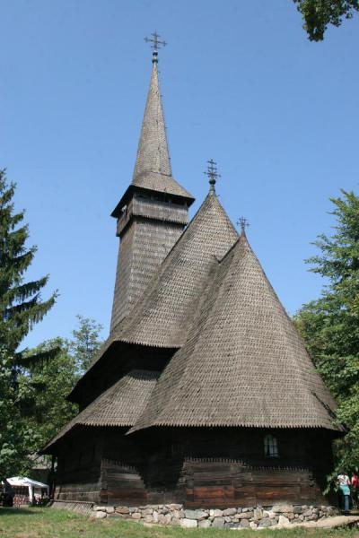 Picture of Typical church from Maramures on display in the Village Museum - Romania - Europe